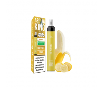 Narghilea Electronica Aroma King by Senator - Banana Ice (500 pufuri)