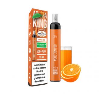 Narghilea Electronica Aroma King by Senator - Orange Soda (500 pufuri)