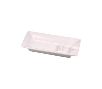 Scrumiera Ceramic cu suport (alb)