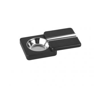 Scrumiera cu capac rotativ (negru)