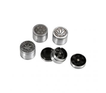 Grinder Metal Cannabis (argintiu)