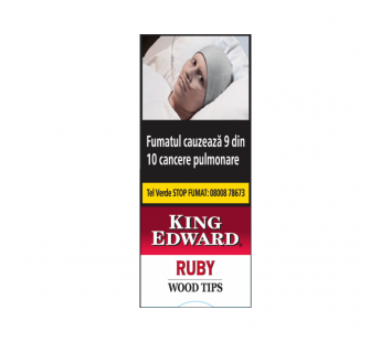 Tigari de foi King Edward Wood Tips Ruby (5)