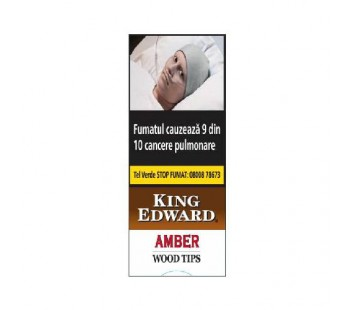 Tigari de foi King Edward Wood Tips Amber (5)