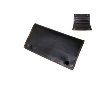 Portofel Tutun Angelo Piele 16x9cm (negru)