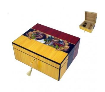 Umidor Angelo (galben&rosu) 30x24x13cm