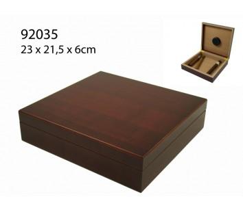 Umidor Angelo (maro inchis) 23x21,5x6cm