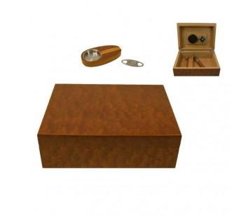 Set Umidor Angelo (maro inchis) 24x18x8cm