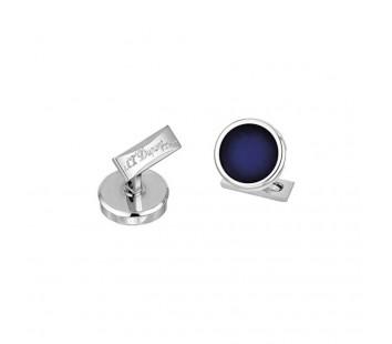 Butoni Round Blue&Palladium Sunburst S.T. Dupont