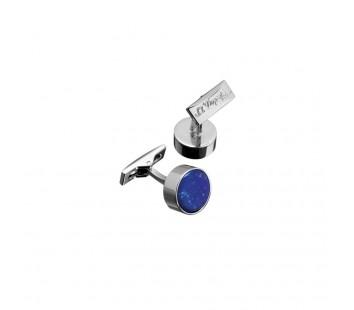 Butoni Round Blue Lapis Lazuli&Palladium S.T. Dupont