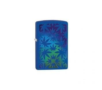 Bricheta Zippo Royal Blue Leaf