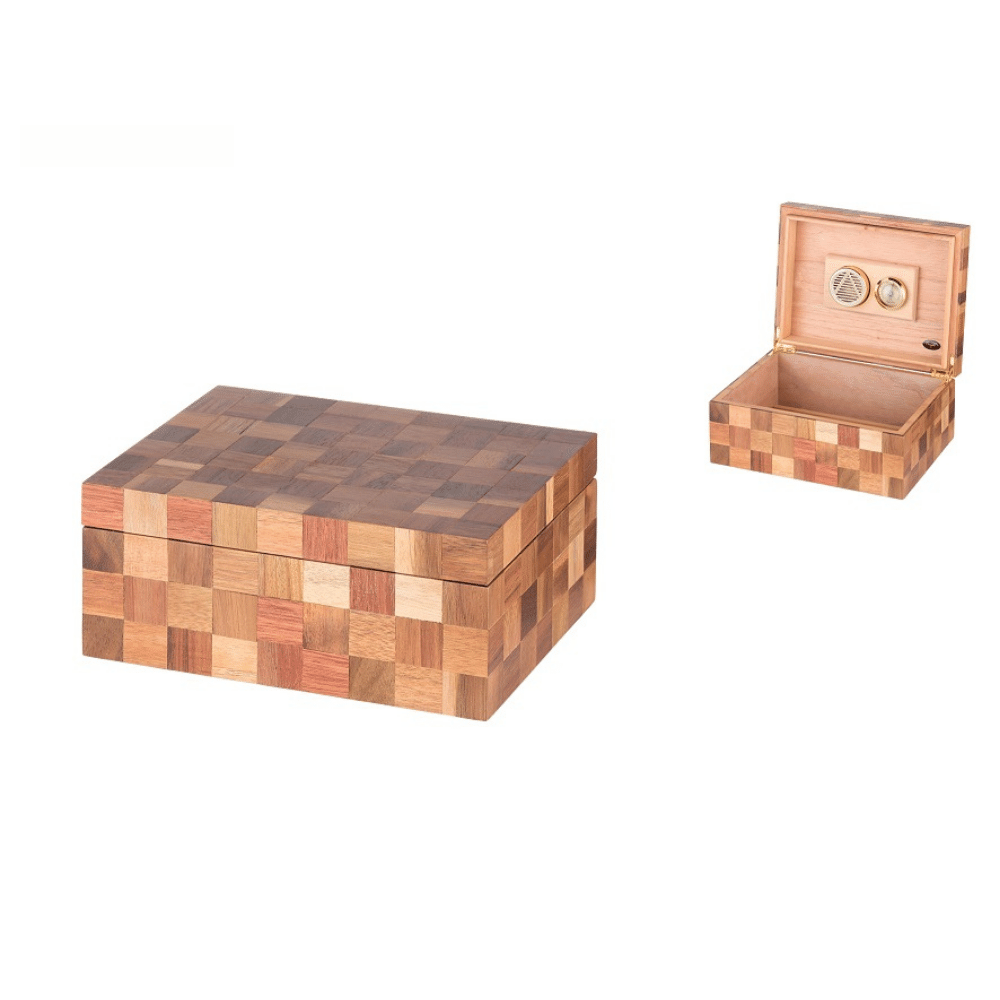 Umidor Angelo Checkered (maro)