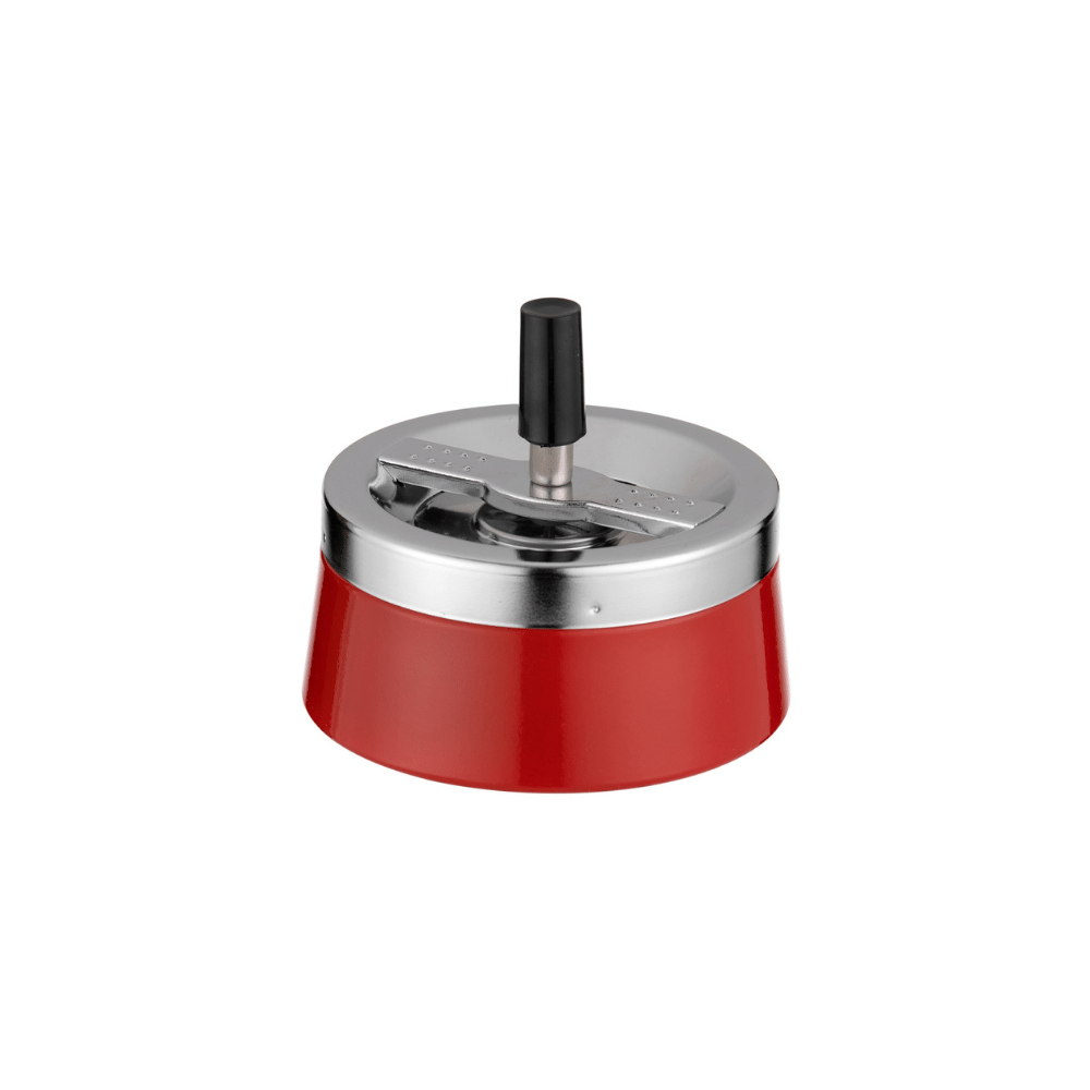 Scrumiera Angelo Spin (red/crom)