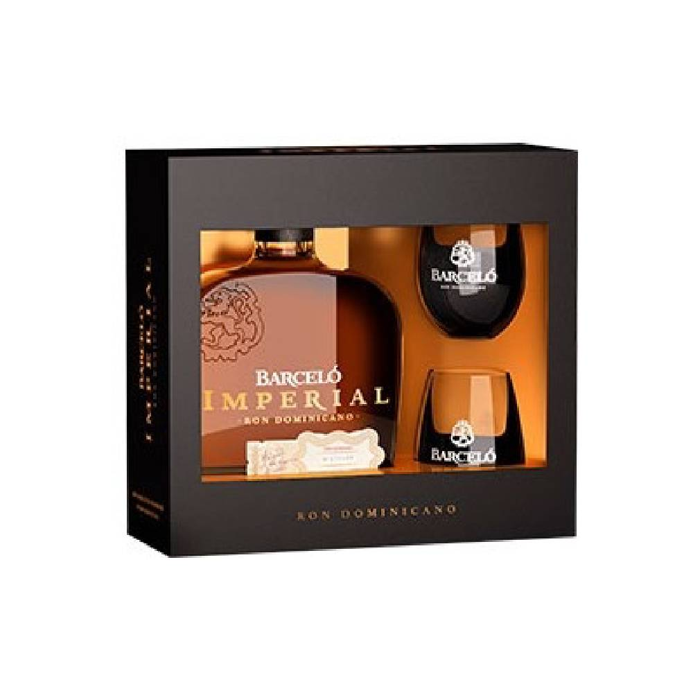 Rom Barcelo Imperial (0.7L, 38%) + 2 pahare